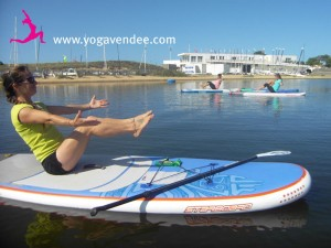 cours yoga sup paddle starboard maud chevallier prof yoga la tranche sur mer