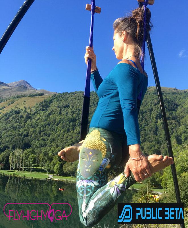 flyhighyoga yoga aérien france public beta leggings vendee
