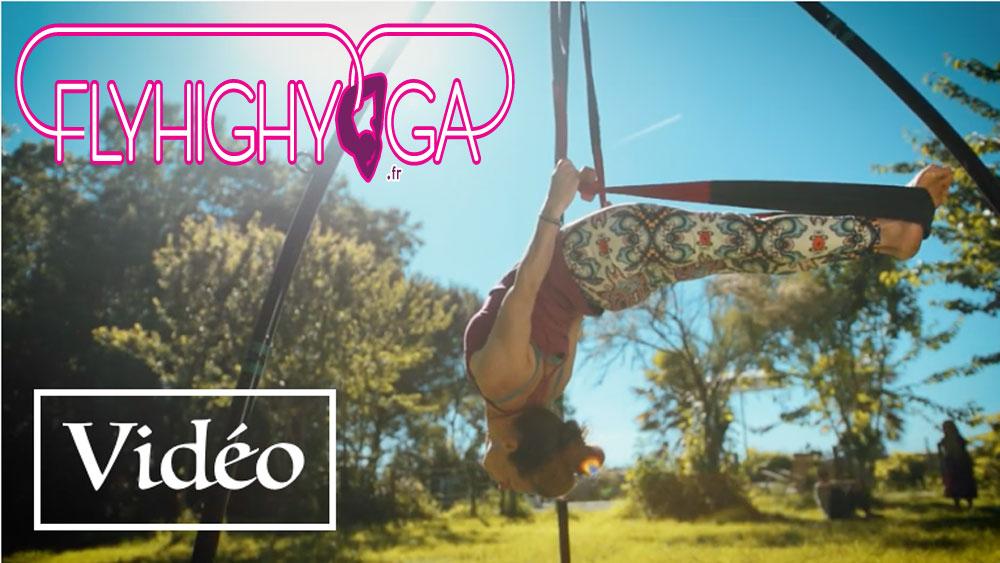 video cours yoga aérien flyhighyoga