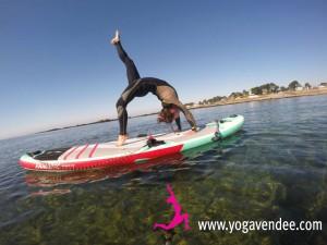 sup yoga paddle vendee la Tranche sur mer, prof yoga maud chevallier