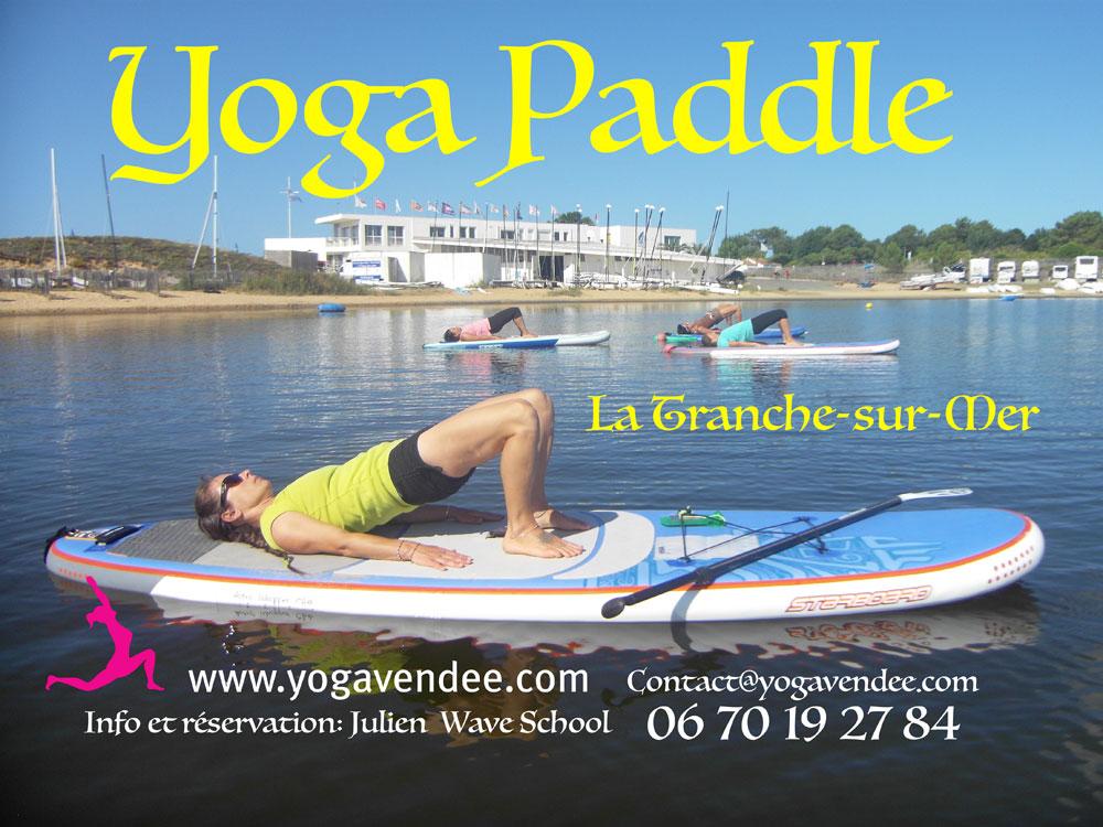 sup yoga paddle vendee la tranche sur mer