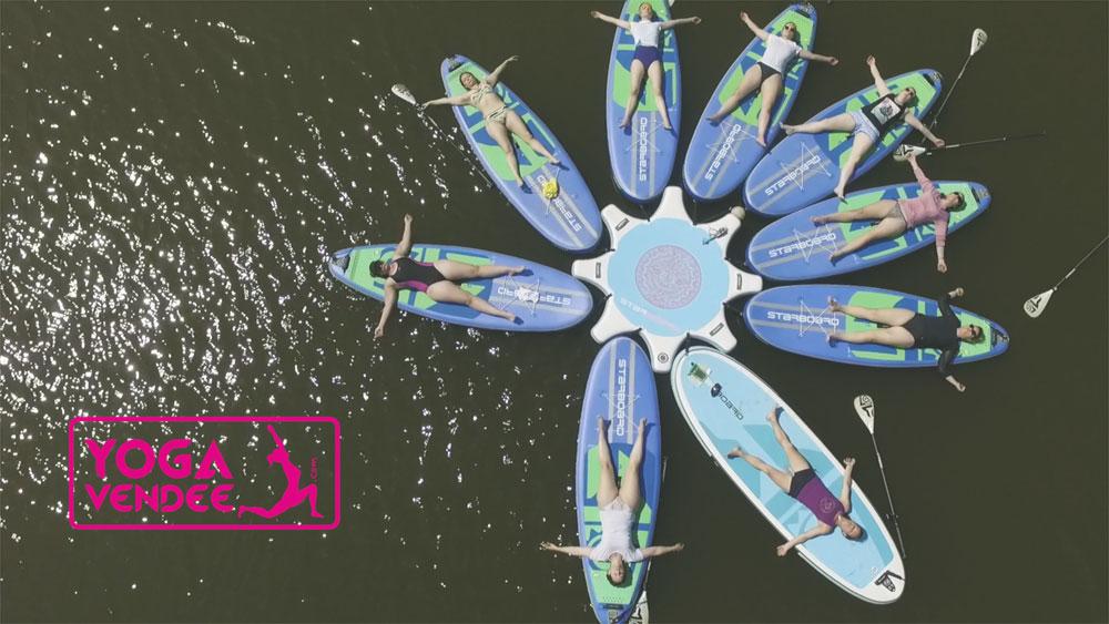 yoga paddle starboard sup yoga paddle vendee la tranche sur mer