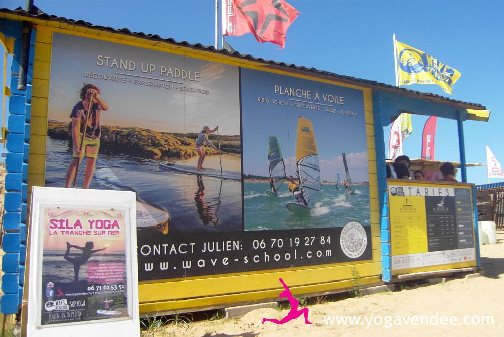 yoga vendee événementiel yaga paddle la tranche sur mer wave school starboard