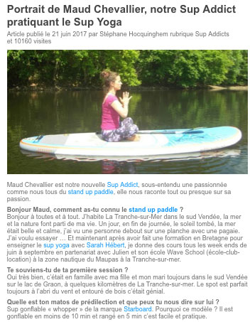 article presse yoga vendee sup passion paddle cours pas cher