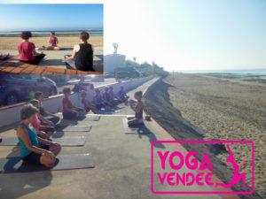cour de yoga hotel *** les dunes la tranche sur mer