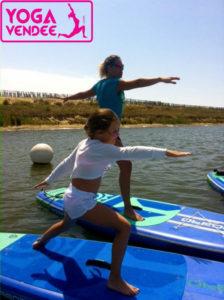 cour sup yoga paddle enfants kids la tranche sur mer