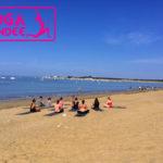 cour de yoga sur la plage la tranche sur mer les conches longeville sur mer