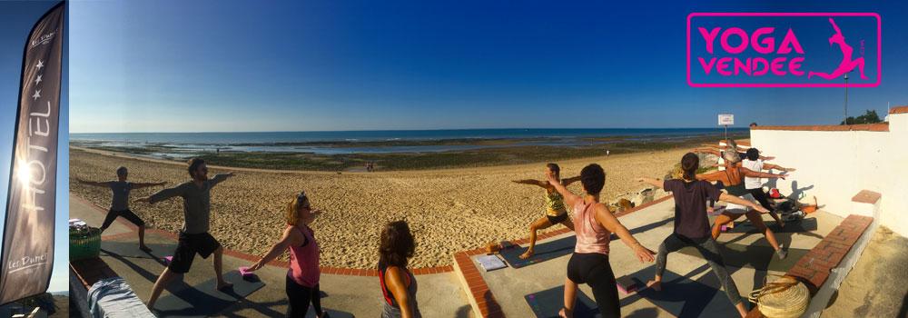 Cour de yoga face à l'Océan et déjeuner végétarien à la Tranche sur mer.