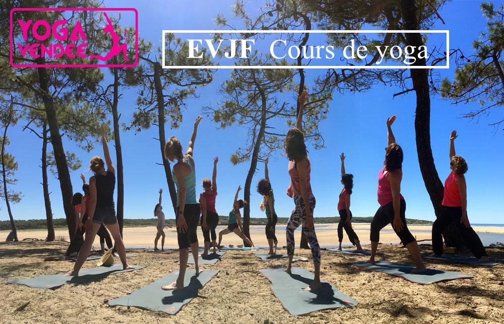 evjf enterrement vie de jeune fille cours de yoga en vendee