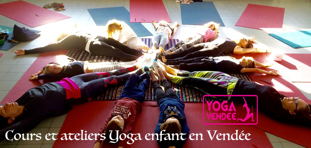 cours atelier yoga pour enfant en vendée la roche sur yon centre de vacances