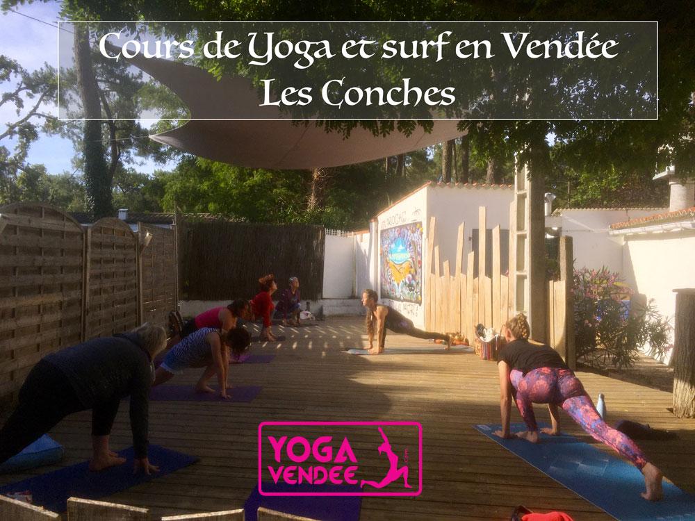 yoga et surf en vendée plages des conches manusurf school