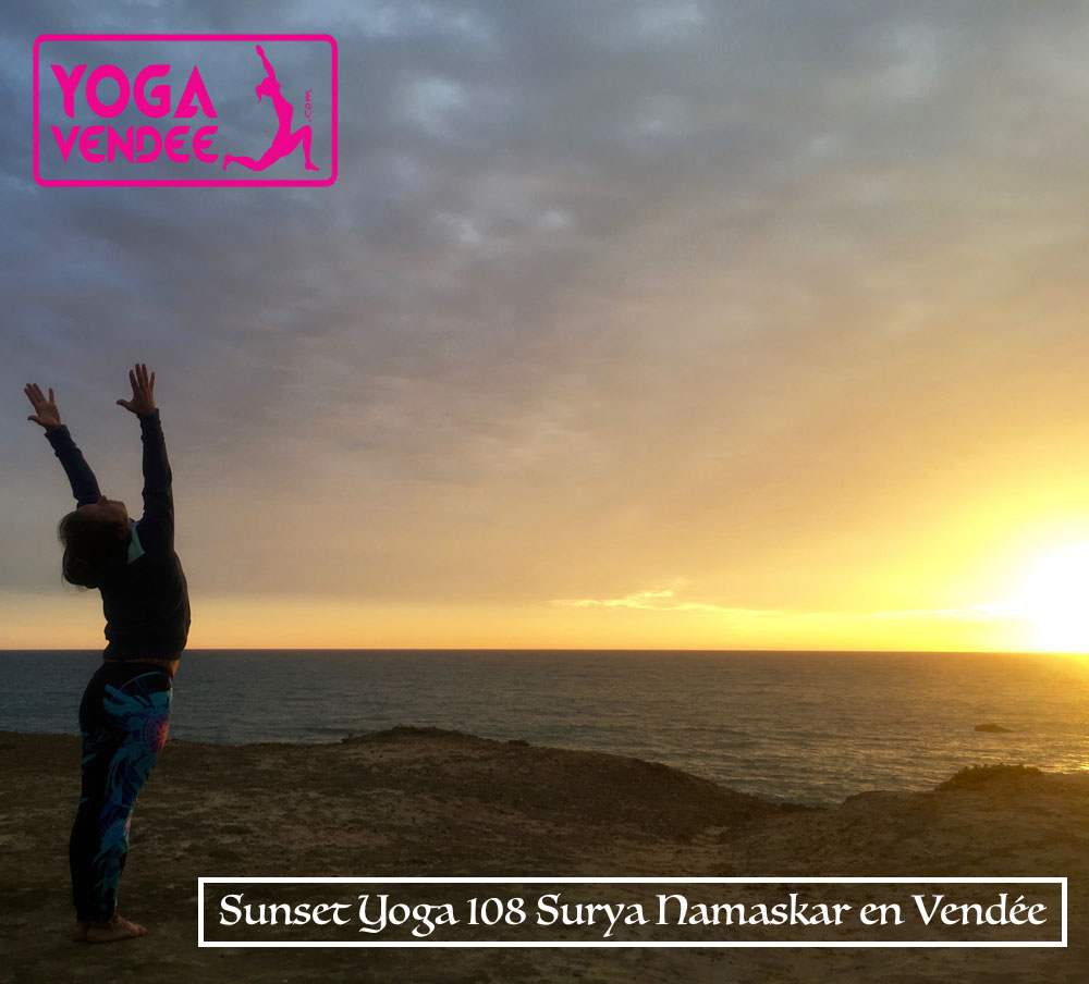 sunset yoga 108 salutations soleil 108 surya namaskar 108 sun salutations en vendee france