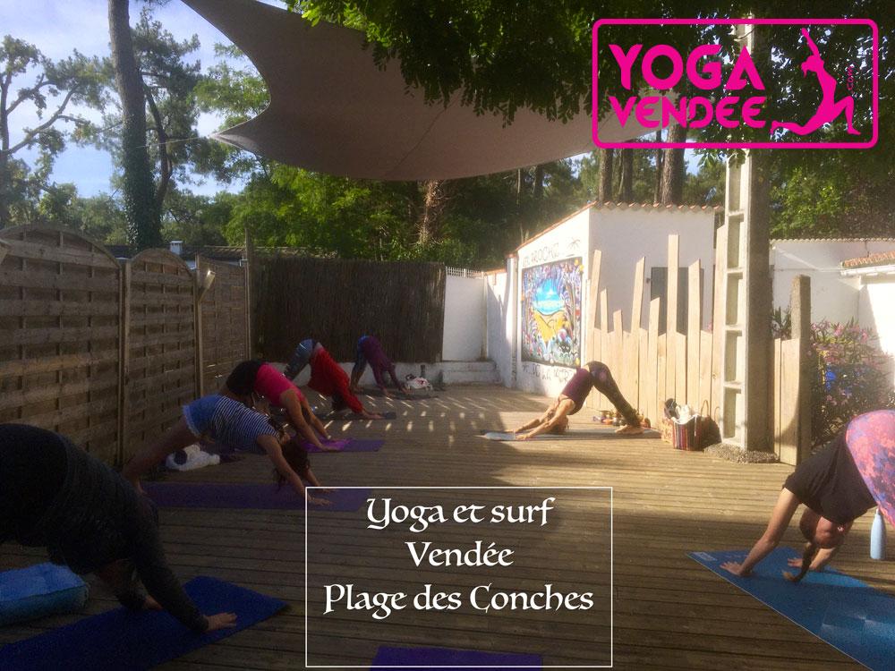 yoga et surf cours de yoga en vendee plages des conches