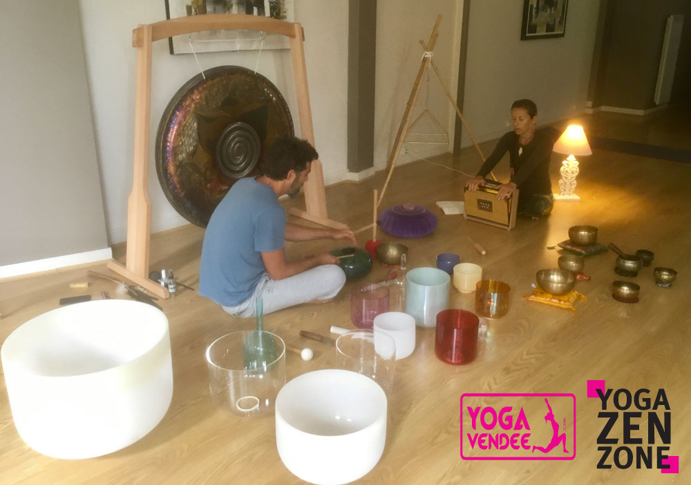 bains sonores bol tibétains bols de cristal cours de yoga zen zone en vendée