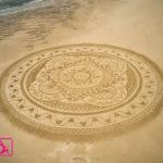 mandala land art plage yoga vendee le fil de la vie