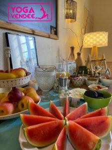 stage retraite de yoga en vendee cuisine végétarienne